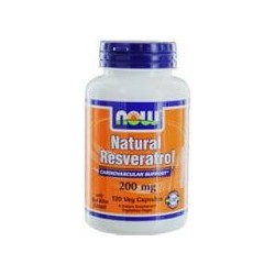 NOW FOOD - RESVERATROL NATUAL 200MG - 120 VCAPS