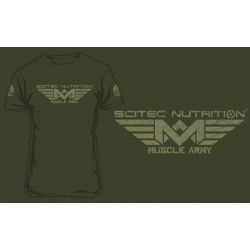 SCITEC T-SHIRT - MUSCLE ARMY GREEN