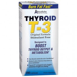 ABSOLUTE NUTRITION-THYROID T3 180 CAPS