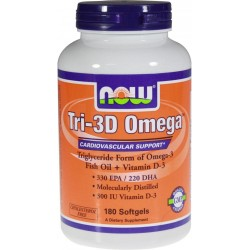 NOW FOOD - TRI-3D OMEGA 180 SOFTGELS