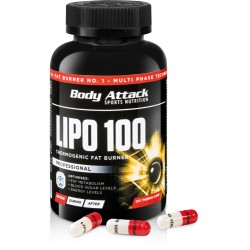 BODY ATTACK - LIPO 100 , 60CAPS