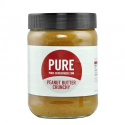 PURE SUPERFOODS - PURE NATURAL CRUNCHY PEANUT BUTTER