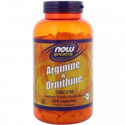 NOW FOOD - Arginine & Ornithine 100 caps