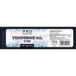 PRO NUTRITION - YOHIMBINE HCL 5MG - 100CPS