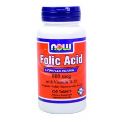 NOW FOOD - FOLIC ACID 800MG , 250 CAPS