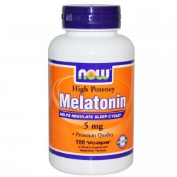 NOW FOODS - Melatonin 5mg 180 caps.