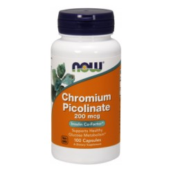 NOW FOODS - Chromium Picolinate 200mcg 100 caps.