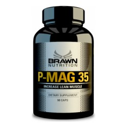 BRAWN NUTRITION - P-MAG 35 , 90CPS